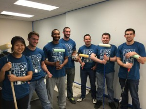 In May 2015, Bloomberg sent volunteers to spruce up parts of our office with a fresh coat of paint.