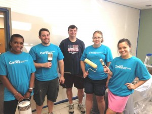 In July 2015, employees from Janssen Pharmaceuticals did a great job of painting our office spaces and one of our visitation rooms.