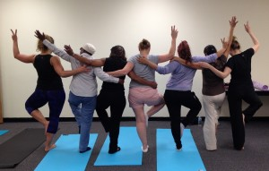 In May 2015, participants of the Mother/Daughter Support Group took part in a Body Flow session, which is a combination of Tai-Chi, Yoga, and Pilates. Benefits from these sessions include relaxation, awareness, and better mind-body coordination.